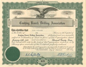 Cushing Ranch Drilling Association - SOLD