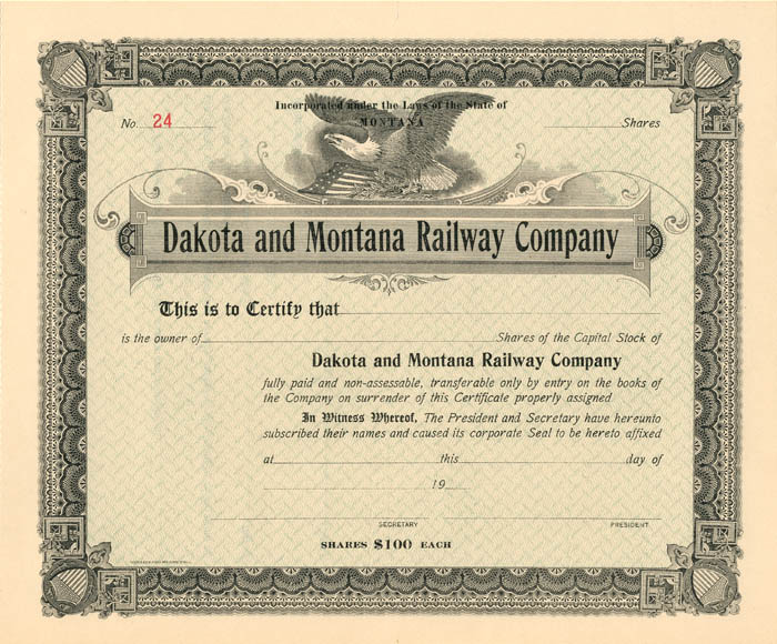 Dakota and Montana Railway Company