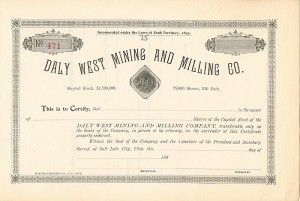 Daly West Mining and Milling Co.