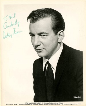Bobby Darin signed portrait - SOLD
