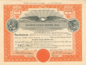 Dawes Gold Mines, Inc.