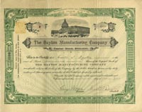 Dayton Maufacturing Company - Stock Certificate
