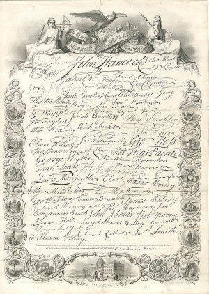 Facsimile of the Signatures to the Declaration of Independence - SOLD