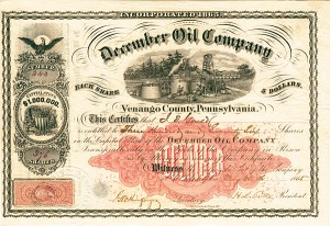 December Oil Company - Stock Certificate - SOLD