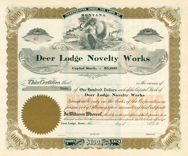 Deer Lodge Novelty Works