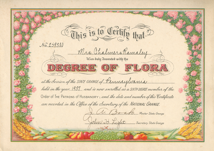 Degree of Flora