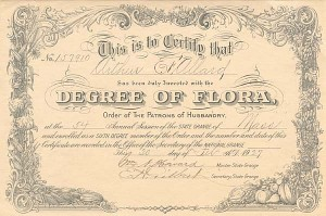Degree of Flora, Order of The Patrons of Husbandry
