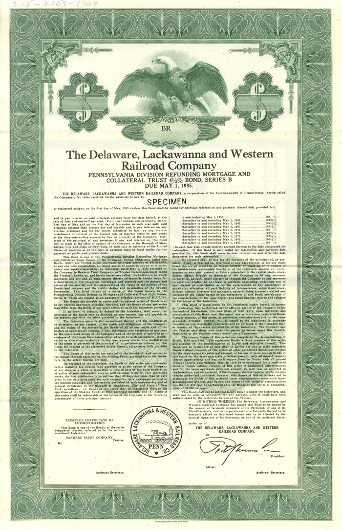 Delaware, Lackawanna and Western Railroad Company, Pennsylvania Division