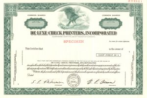 De Luxe Check Printers, Incorporated