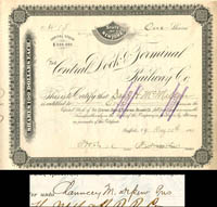 Central Dock & Terminal Railway Co. transferred to Chauncey M. Depew