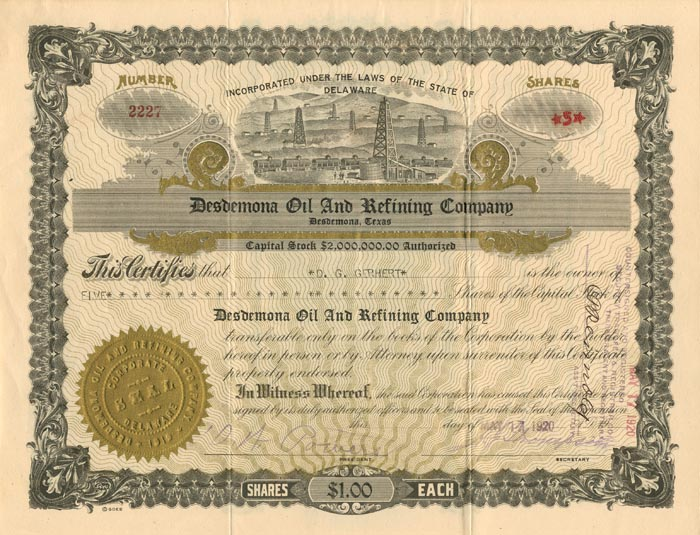 Desdemona Oil and Refining Company