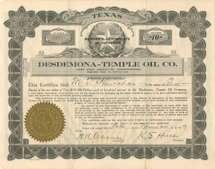 Desdemona-Temple Oil Co.