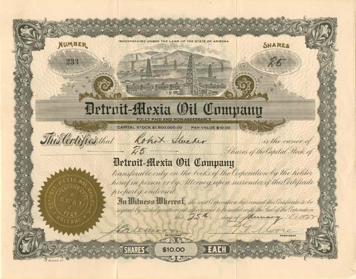 Detroit-Mexia Oil Company