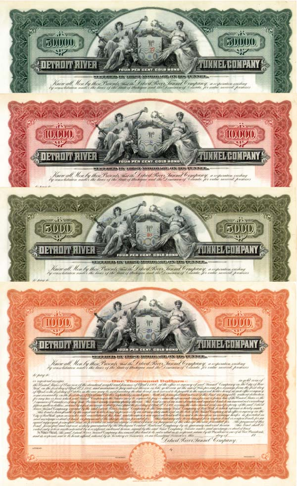 Detroit River Tunnel Bond - VARIOUS DENOMINATIONS