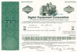 Digital Equipment Corporation - $1,000,000 Bond
