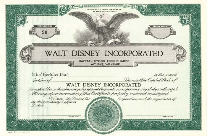 Walt Disney Incorporated - SOLD