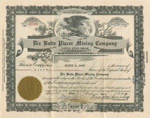 Dix Butte Placer Mining Company - SOLD