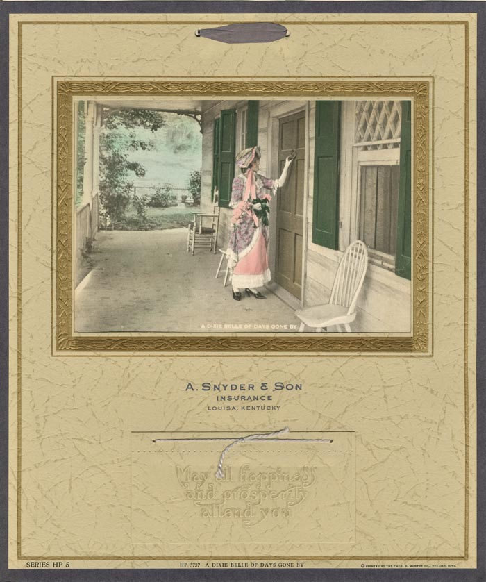 """A Dixie Belle of Days Gone By"" by Thos. D. Murphy Co."