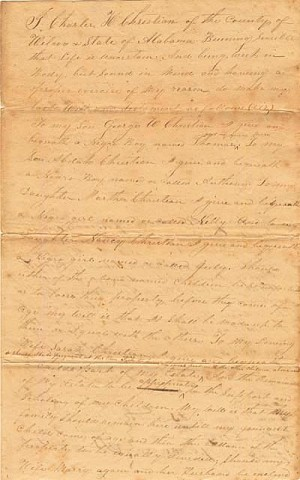 Alabama Slave Document - SOLD