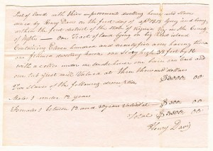 Virginia Slave Document - SOLD