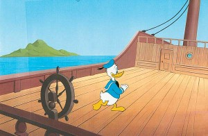 Donald Duck on Ship