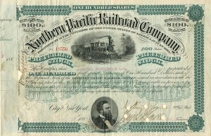Northern Pacific Railroad Company signed by J.P. Morgan