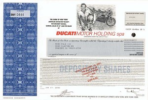 Ducati Motor Holding Spa - SOLD