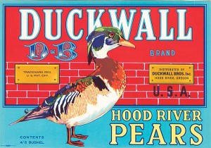 Fruit Crate Label - Duckwall