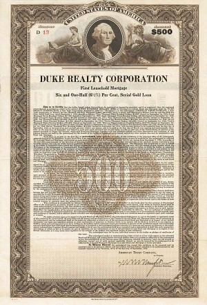 Duke Realty Corporation - Bond - SOLD