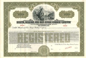 Duluth, Missabe and Iron Range Railway Company - Sold