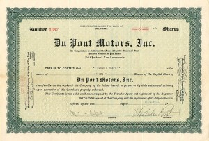 Du Pont Motors, Inc. - SOLD