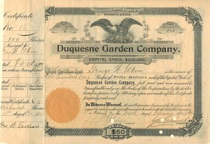 Duquesne Garden Company - SOLD