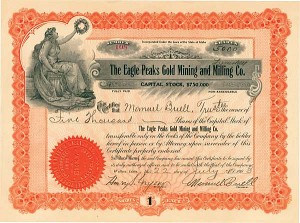 Eagle Peaks Gold Mining and Milling Co. - Stock Certificate