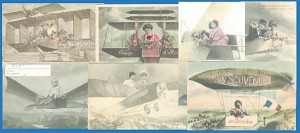 Early Aviation Comic Postcards