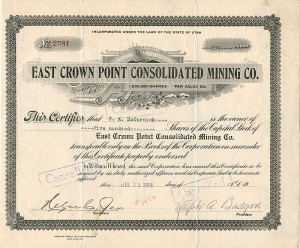 East Crown Point Consolidated Mining Co.