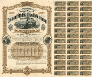 East and West Railroad Company of Alabama - $1,000 - SOLD