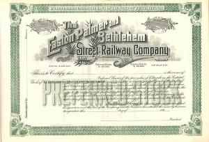Easton Palmer and Bethlehem Street Railway Company