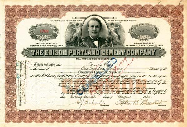 Edison Portland Cement Company - SOLD