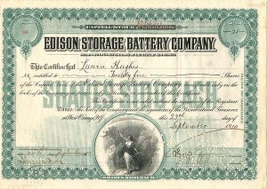Edison Storage Battery Company - SOLD