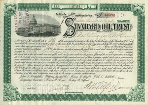 Standard Oil Trust signed by Edith Rockefeller McCormick, Archbold, and Tilford