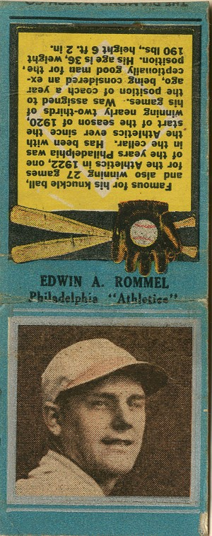 Edwin A. Rommel Book of Matches