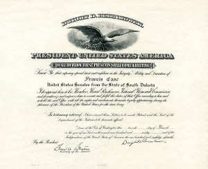 Dwight D Eisenhower signed Appointment