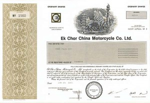 Ek Chor China Motorcycle Co., Ltd.