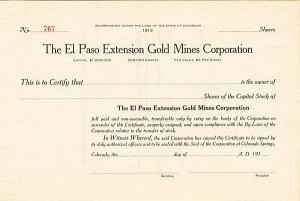 El Paso Extension Gold Mines Corporation