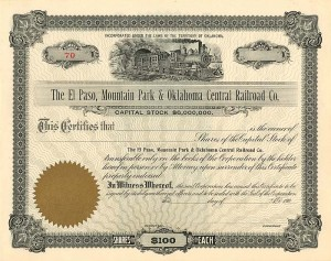 El Paso, Mountain Park & Oklahoma Central Railroad Co.