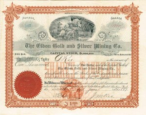 Eldon Gold & Silver Mining Company - SOLD