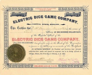 Electric Dice Game Company