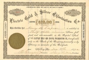 Electric Gold & Silver Chlorination Co.