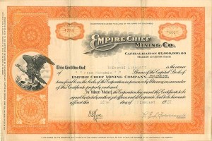 Empire Chief Mining Co. - SOLD