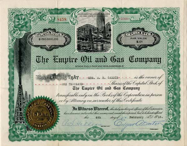 Empire Oil and Gas Company - SOLD